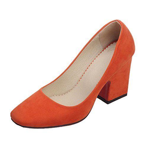 ENMAYERオレンジ正方形とローヒールの靴とレトロなミニマリストの正方形のヘッドつま先ハイヒール厚いヨーロッパや... https://www.amazon.co.jp/dp/B01MTURRY6/ref=cm_sw_r_pi_dp_x_ozJrybF6WREBJ