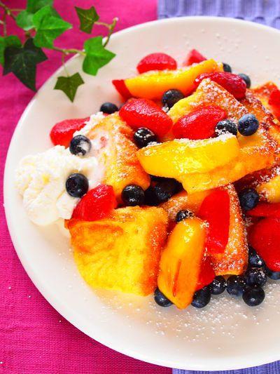 「フルーティーなフレンチトースト」のレシピ by オリエンタルママさん | 料理レシピブログサイト タベラッテ