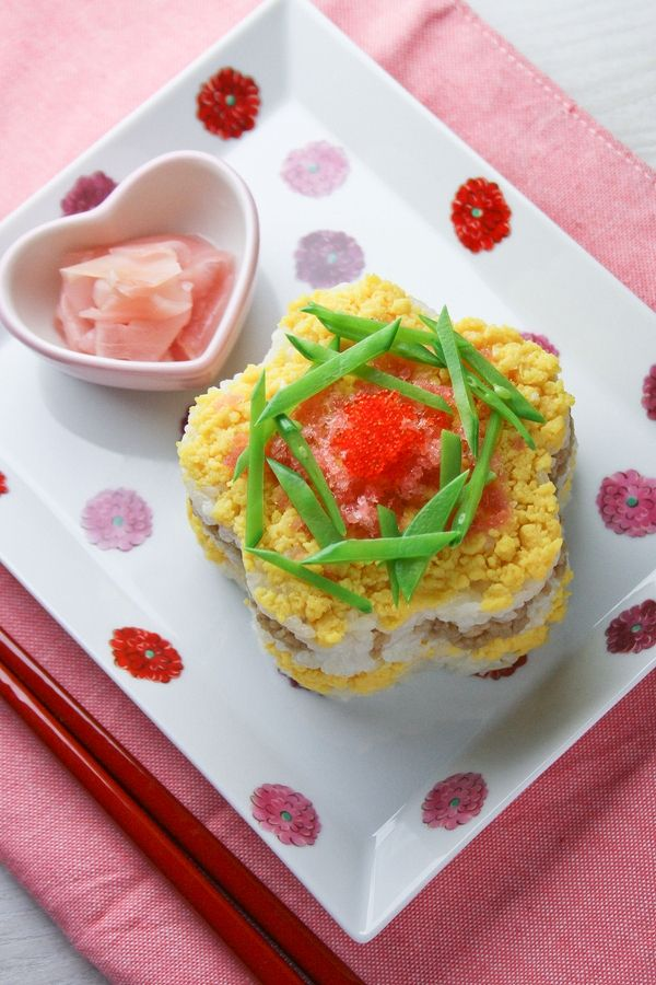 春色*花型押し寿司。 by しのはら じゅんこ   レシピサイト「Nadia   ナディア」プロの料理を無料で検索