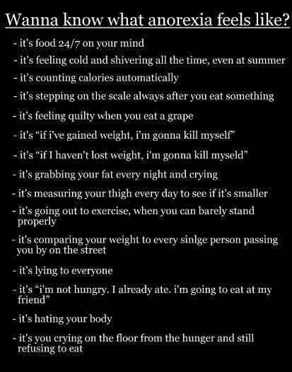 Anorexia-reasons not to go back!