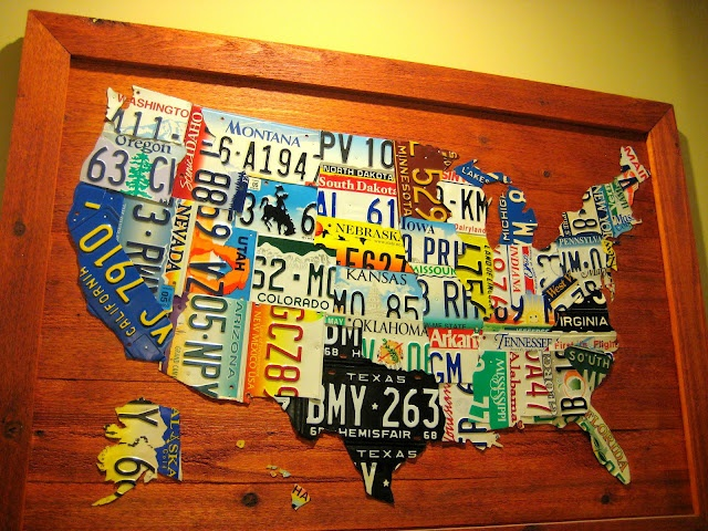 DIY License Plate map: Diy'S, Licenseplates, Maps, Art, License Plates, Diy License, Craft Ideas