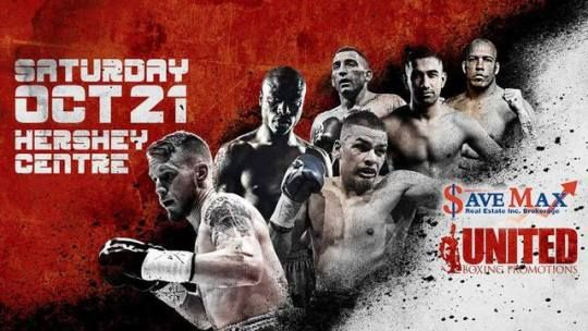 **COMPLIMENTARY TICKETS FOR SAVE MAX CLIENTS** Save Max is proudly sponsoring another LIVE Professional Boxing Event with United Boxing Promotions at Hershey Centre on October 21, 2017 at 6pm. Please make sure to pick your tickets from Save Max Brampton/Mississauga Office Today. For any more details, please call us at 905.459.7900