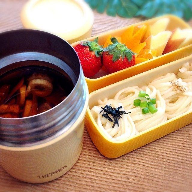 スープジャーで温かい♡うどんのお弁当,お弁当,うどん,