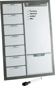 Pizarra magnética con rotulador