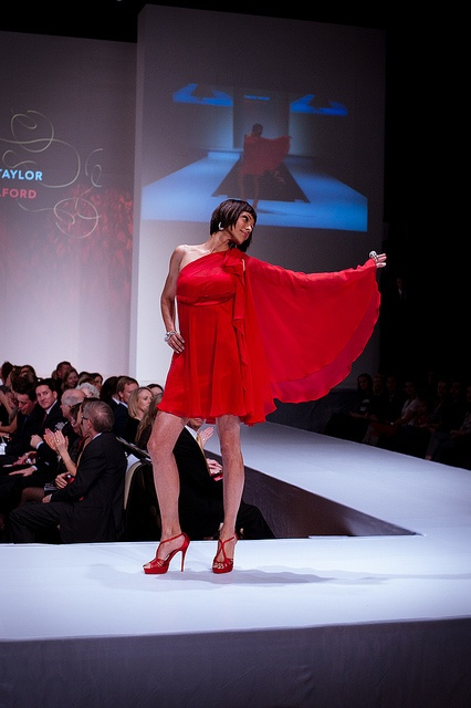 Tamara Taylor wearing Mark Belford – Heart and Stroke Foundation - The Heart Truth celebrity fashion show - Red Dress - Red Gown - Thursday February 8, 2012 - Creative Commons by Jason Hargrove, via Flickr