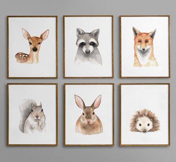 Woodland Nursery Decor, Woodland Nursery, Woodland Nursery Theme, Forest Animals Nursery Decor, Woodland Nursery Wall Art, Woodland Animals, Forest Animals Nursery / PrintablesbyOakHouse on Etsy