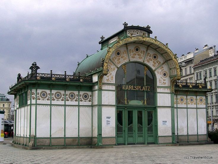 Otto Wagner Pavillon Karlsplatz in Vienna, Austria