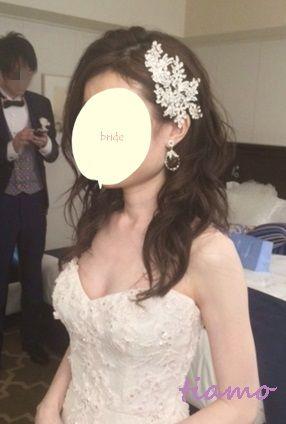CUTEなイメージチェンジ大成功!素敵花嫁さまの一日♡ |大人可愛いブライダルヘアメイク『tiamo』の結婚カタログ