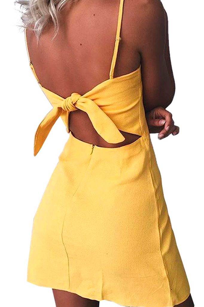 Yellow Bow Dress
