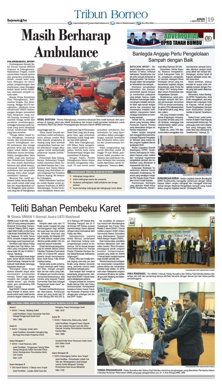 #ClippedOnIssuu from Banjarmasin Post Senin 1 Agustus 2016