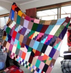 Blanket with lots of patterns