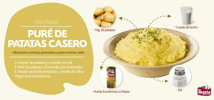 Dale un toque más sano a tus platos y sustituye las patatas fritas por este delicioso #PURÉ de #PATATAS
