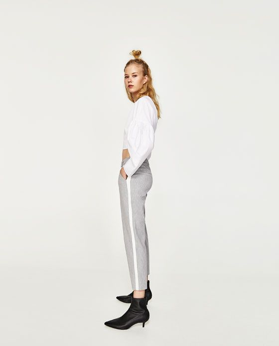 Image 5 of CHINO TROUSERS WITH SIDE STRIPE from Zara