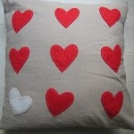Natural Scatter with Red Heart Detail