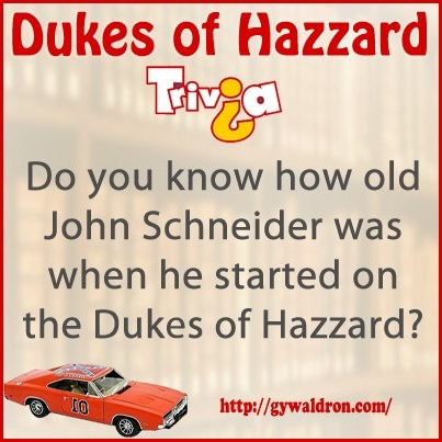Do you know how old John Schneider was when he started on the Dukes of Hazzard?  #DukesofHazzard: Pop Culture, John Schneider, Country Boys, Countryboy Countrygirl, Dukes Trivia, Fun Facts, Hazzard County, Photo, Hazzard Trivia