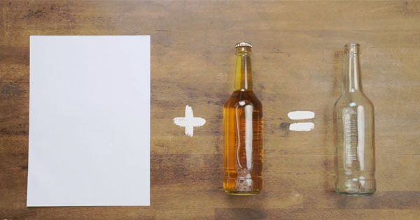 How to open a bottle with a piece of paper