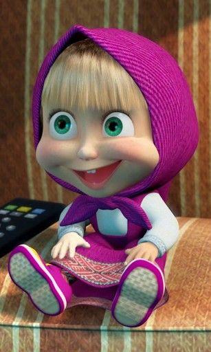 big smile... watching TV