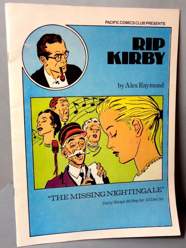 RIP KIRBY 16 The Missing Nightingale Alex Raymond large size B & W reprints September 25-December 23,1950 Pacific Club 1980 Limited Edition