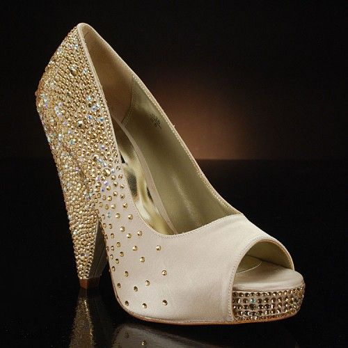 gold wedding shoes wedges-by-Benjamin-Adams