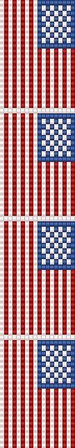 american flag loom pattern