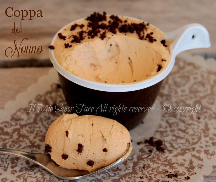 Coppa del nonno senza Bimby fatta in casa facile e veloce.Un gelato al caffè corposo e vellutato. Vi lascio anche il procedimento della ricetta con il Bimby