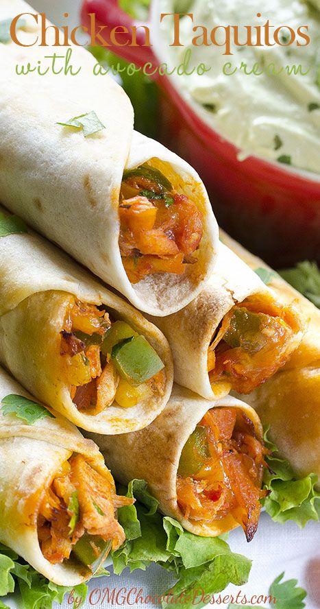 ... fresh fruit, rolled into crunchy tortilla. #chicken #avocado #recipes