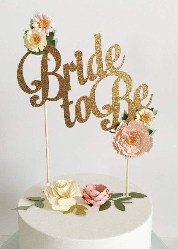 Bridal shower cake topper @myweddingdotcom