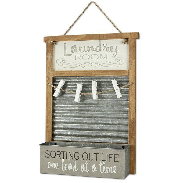 Laundry Basket Wall Decor In 2020 Washboard Decor Baskets On Wall Laundry Room