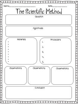 This would be perfect! Scientific Method graphic organizer