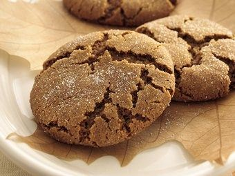 Soft Molasses cookies- Andrea uses butter flavored shortening and creams it with the sugar before adding the eggs and molasses.