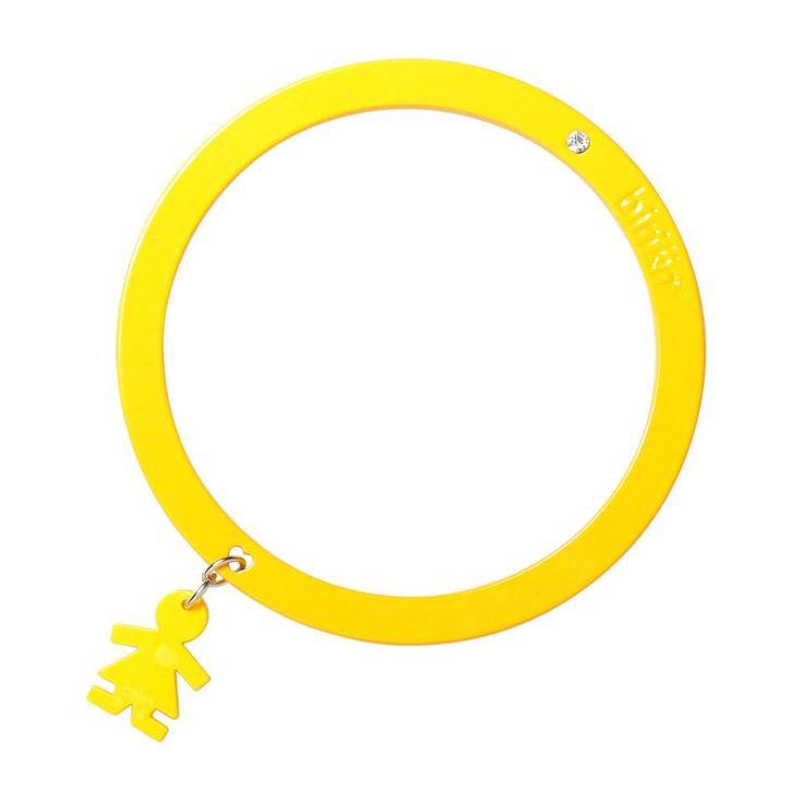 Bracciale linea #passion by #birikini: tinta unita giallo