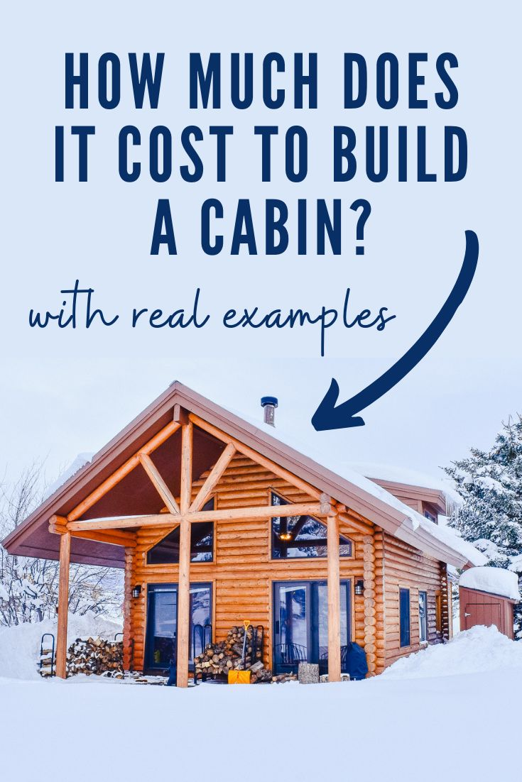 How Much Does It Cost To Build A Log Cabin With Real Examples How To Build A Log Cabin Building A Cabin Log Cabin Plans