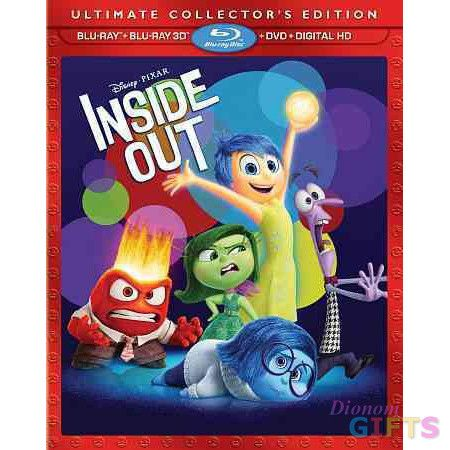 INSIDE OUT (2015/BLU-RAY/3D/DVD/DIGITAL HD/4 DISC) (3-D)