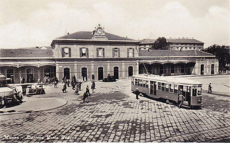 Stazione di Porta Genova anni 30 | da Milàn l'era inscì