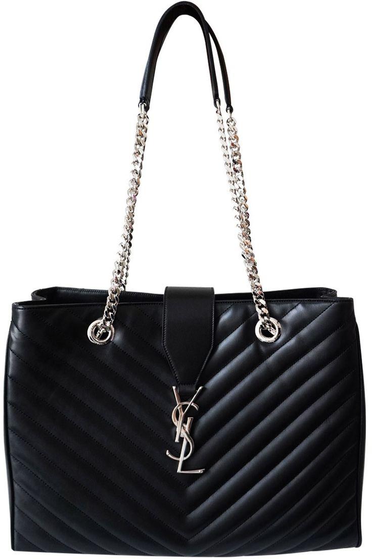Saint Laurent BO Monogramme YSL Quilted Bag Black as seen on ...