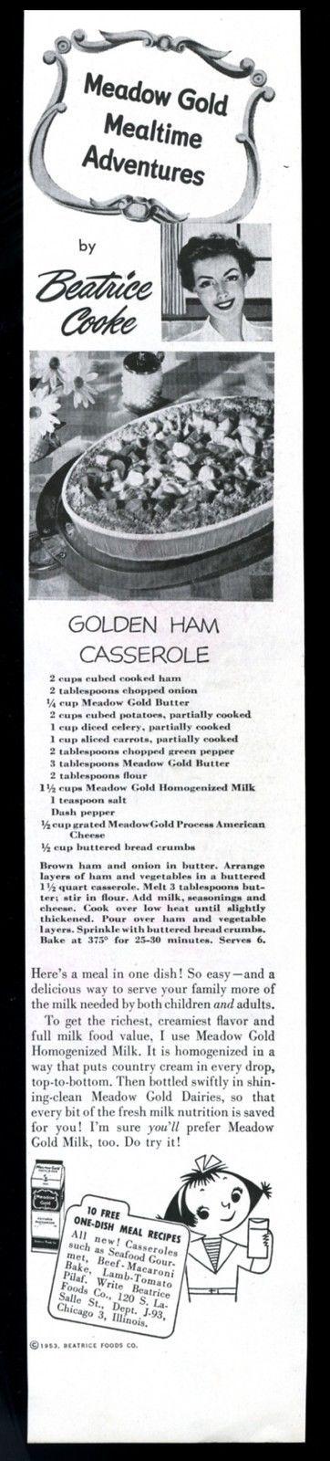 1953 Mary Blair little girl art Meadow Gold Milk vintage print ad | eBay