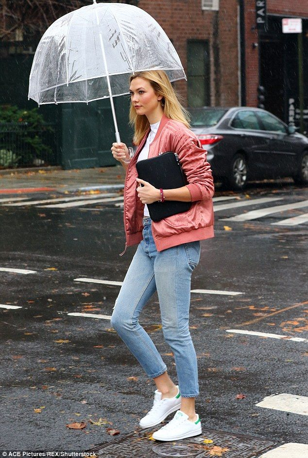 """Keep it classic like Karlie in Adidas Stan Smiths Click """"Visit"""" to buy #DailyMail"""
