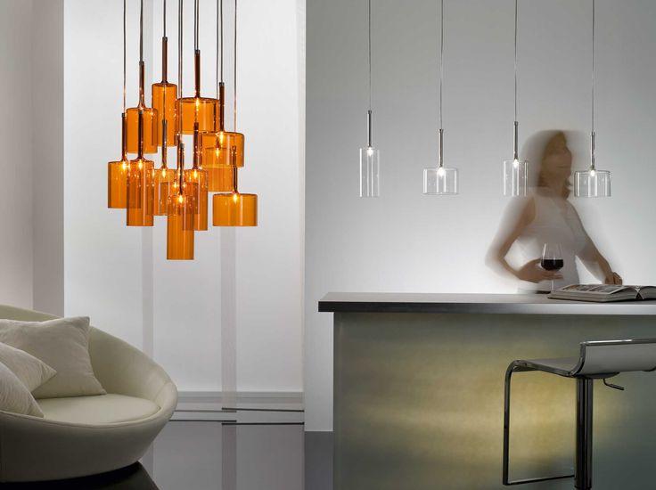 Spillray suspension light at Mondo Luce, Melbourne.