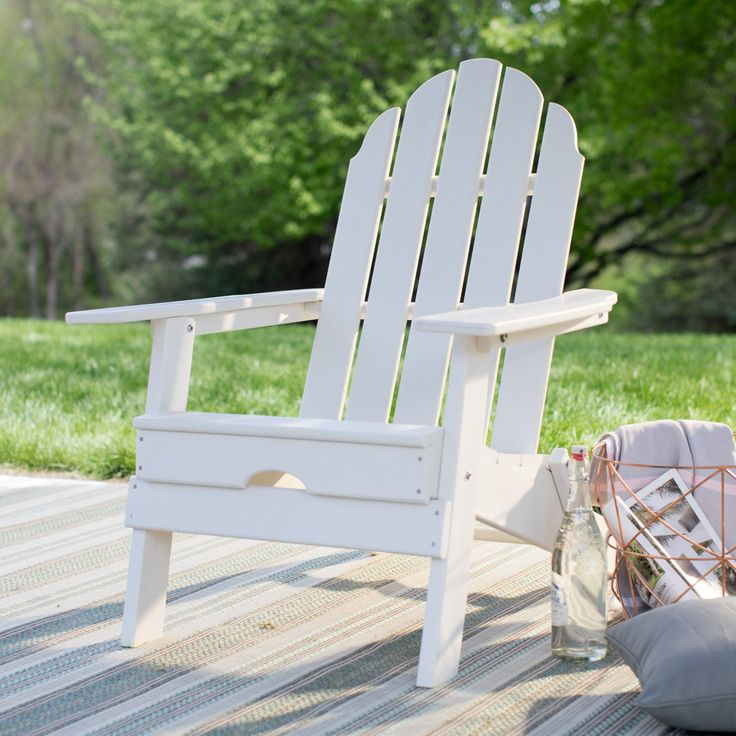 Outdoor Belham Living Belmore Recycled Plastic Folding Adirondack Chair - HZXMFC38 TEAK