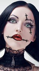 Corpse Eye & Neck Scar Stickers, Bride of Frankenstien Scars