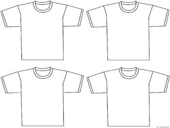 t shirt template and blank templates 2 sizes have the students create an about me