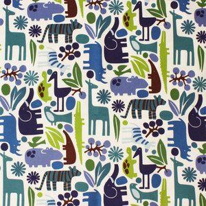 Alexander Henry House Designer - 2D Zoo Flannel - 2D Zoo Flannel in Pool