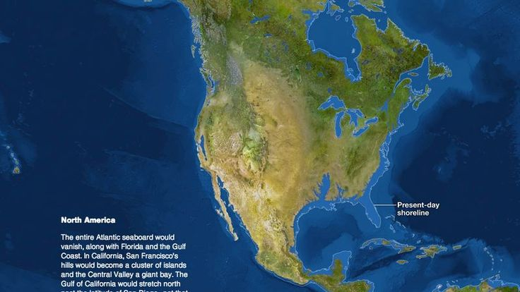 If all the ice at the poles melted due to rising global temperatures, most of humanity would be under water, according to this National Geographic map.