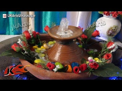 Diy how to make waterfall easy tabletop water fountain for Homemade tabletop water fountain