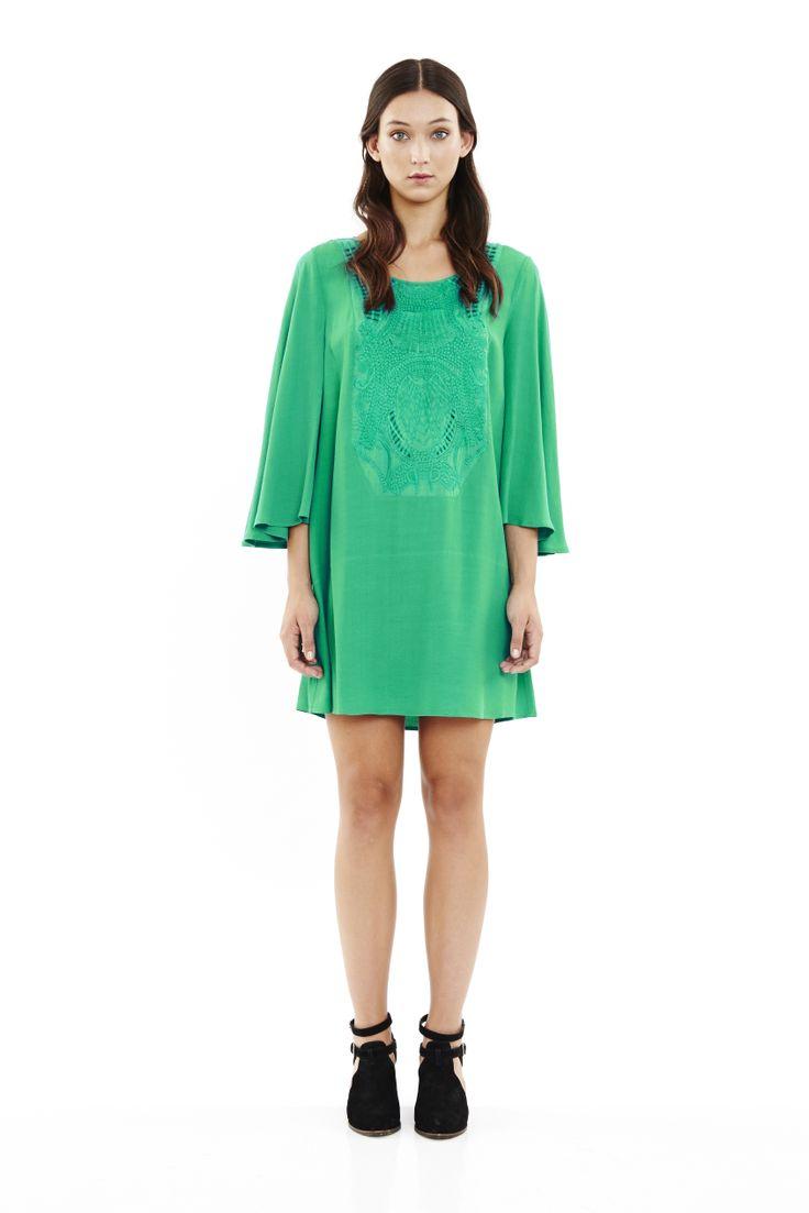 Maya Dress in Jade