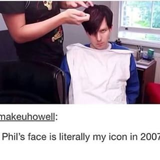 he looks like those emo kids you fond on MySpace who make a mad face like they hate life so much