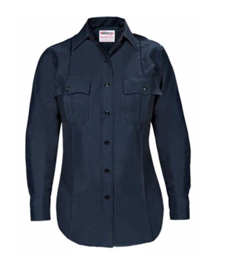 Women's Paragon Plus Poplin Long Sleeve Shirt with Postal Police Emblem - Postal Police