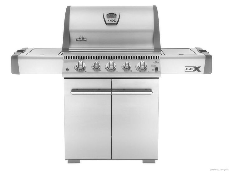 Napoleon LEX485RSIBPSS 48000 BTU 63 Inch Wide Liquid Propane Free Standing Stain Stainless Steel Outdoor BBQ Grill Freestanding