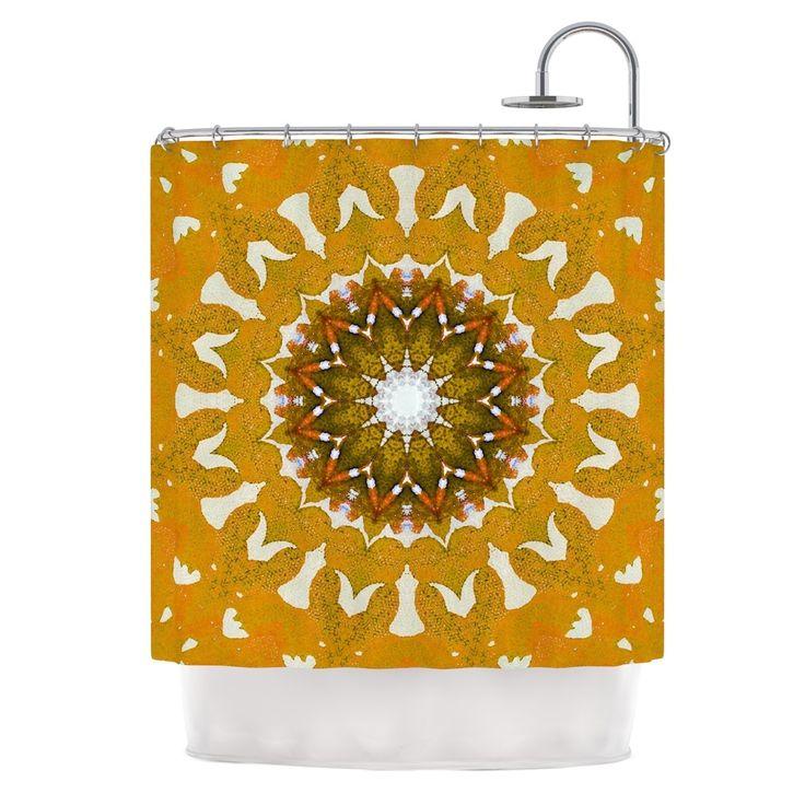 "Kess InHouse Iris Lehnhardt ""M1"" Orange Shower Curtain"