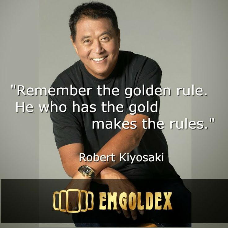 Seconds of wisdom from a successful investor millionaire Robert Kiyosaki! Read how to invest and earn gold in the news from EmGoldex Company -> http://www.emgoldex.com/snews/